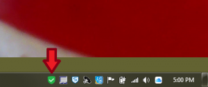 Windows Fortinet client icon