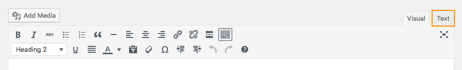 screenshot shown location of the text tab in the editing toolbar
